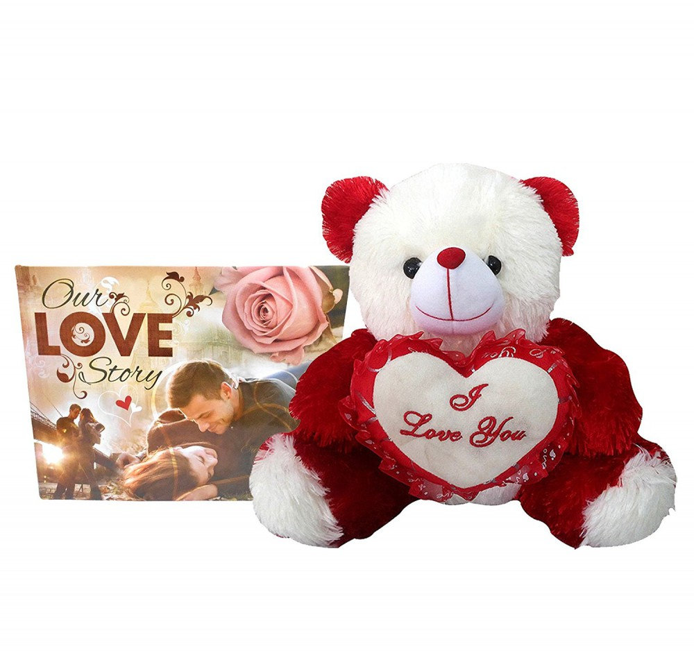 I Love You Teddy With Heart And Greeting Cards For Girlfriend Wife