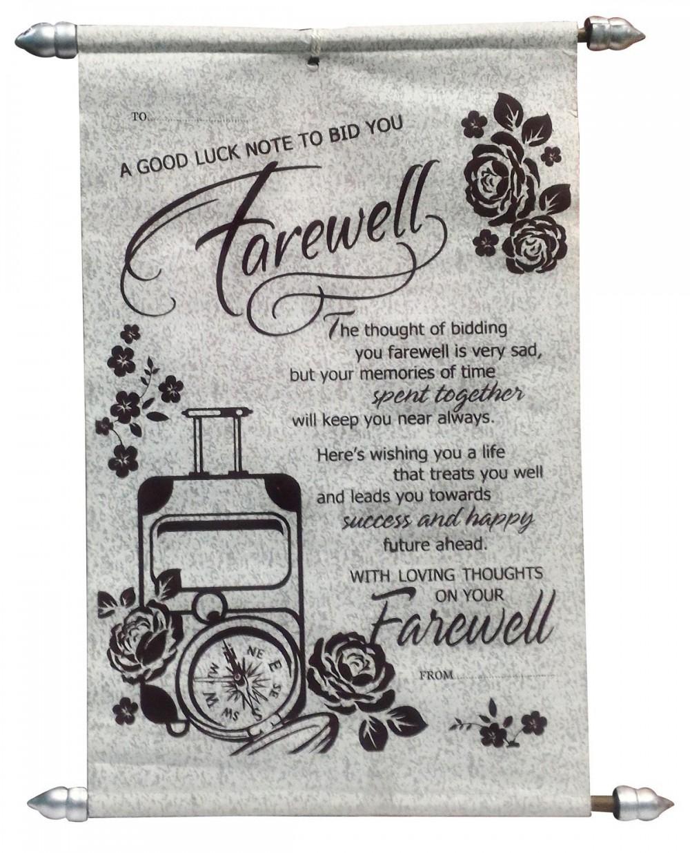 farewell scroll card