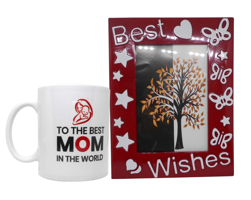 3555d240e83 Mother's Day Gift - Quote Coffee Mug & Photo Frame(Red)
